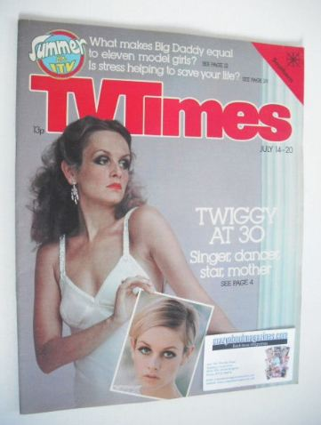<!--1979-07-14-->TV Times magazine - Twiggy cover (14-20 July 1979)