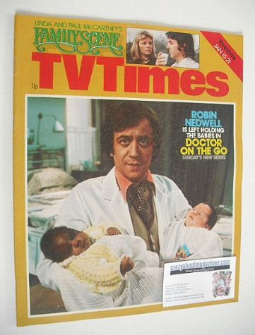 <!--1977-01-15-->TV Times magazine - Robin Nedwell cover (15-21 January 197