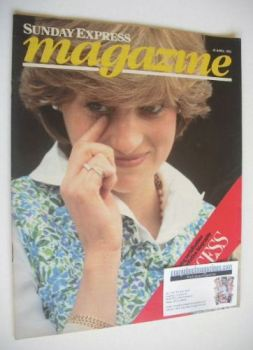 Sunday Express magazine - 25 April 1982 - Princess Diana cover
