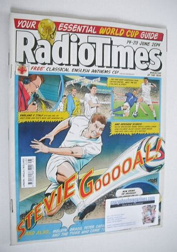 <!--2014-06-14-->Radio Times magazine - Goal cover (14-20 June 2014)