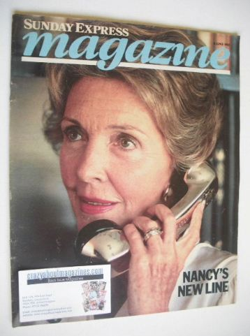 <!--1982-06-06-->Sunday Express magazine - 6 June 1982 - Nancy Reagan cover