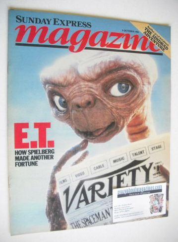 <!--1982-10-03-->Sunday Express magazine - 3 October 1982 - E.T. cover