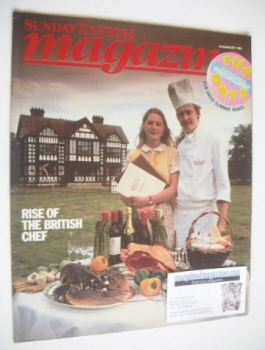 Sunday Express magazine - 14 August 1983 - Rise Of The British Chef cover