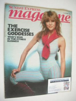 Sunday Express magazine - 2 October 1983 - Victoria Principal cover