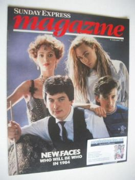 <!--1984-01-15-->Sunday Express magazine - 15 January 1984 - New Faces cover