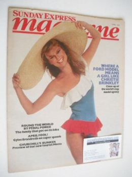 <!--1984-04-01-->Sunday Express magazine - 1 April 1984 - Christie Brinkley cover