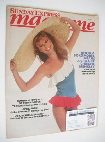 <!--1984-04-01-->Sunday Express magazine - 1 April 1984 - Christie Brinkley