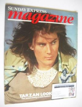 <!--1984-04-08-->Sunday Express magazine - 8 April 1984 - Tarzan Look cover