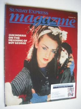 <!--1984-08-05-->Sunday Express magazine - 5 August 1984 - Boy George cover