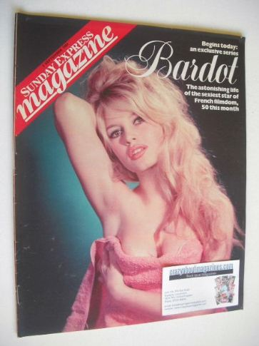 <!--1984-09-01-->Sunday Express magazine - 1 September 1984 - Brigitte Bard