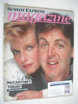 <!--1984-10-21-->Sunday Express magazine - 21 October 1984 - Paul and Linda McCartney cover