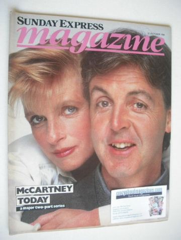 <!--1984-10-21-->Sunday Express magazine - 21 October 1984 - Paul and Linda