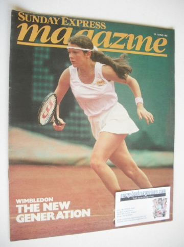 <!--1985-06-23-->Sunday Express magazine - 23 June 1985 - Annabel Croft cov