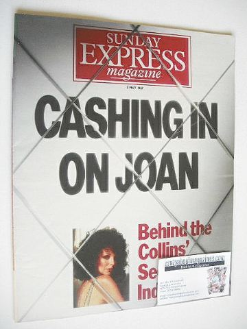 <!--1987-05-03-->Sunday Express magazine - 3 May 1987 - Joan Collins cover