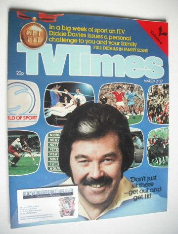 <!--1981-03-21-->TV Times magazine - Dickie Davies cover (21-27 March 1981)