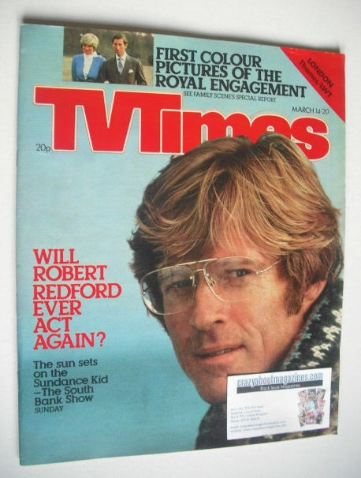 <!--1981-03-14-->TV Times magazine - Robert Redford cover (14-20 March 1981