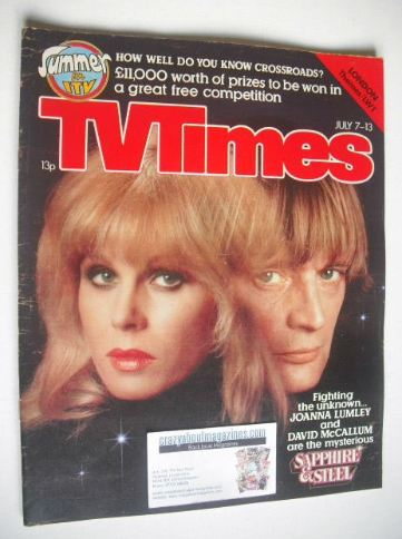 <!--1979-07-07-->TV Times magazine - Joanna Lumley and David McCallum cover
