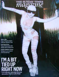<!--2009-12-06-->The Sunday Times magazine - Lady Gaga cover (6 December 20