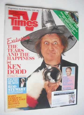 <!--1989-12-16-->TV Times magazine - Ken Dodd cover (16-22 December 1989)