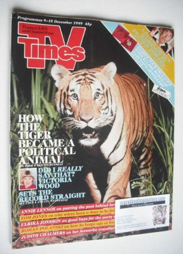 <!--1989-12-09-->TV Times magazine - Tiger cover (9-15 December 1989)