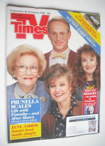 <!--1990-01-20-->TV Times magazine - Prunella Scales cover (20-26 January 1