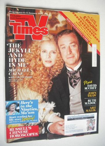 <!--1990-01-06-->TV Times magazine - Michael Caine and Cheryl Ladd cover (6