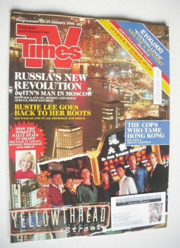 <!--1990-01-13-->TV Times magazine - Yellowthread Street cover (13-19 Janua
