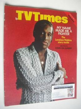 TV Times magazine - Lovelace Watkins cover (27 November - 3 December 1971)