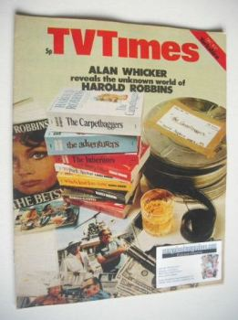 TV Times magazine - Unknown World of Harold Robbins cover (11-17 December 1971)