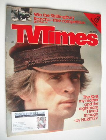 <!--1981-06-13-->TV Times magazine - Rudolf Nureyev cover (13-19 June 1981)