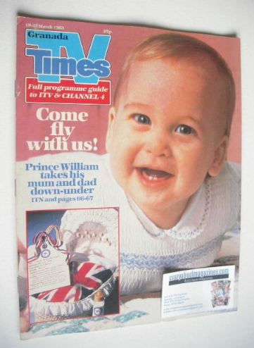 <!--1983-03-19-->TV Times magazine - Prince William cover (19-25 March 1983