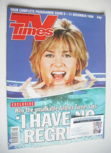 <!--1998-12-11-->TV Times magazine - Anthea Turner cover (5-11 December 199