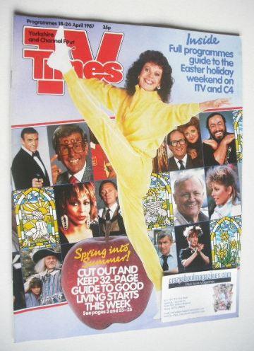 <!--1987-04-18-->TV Times magazine - Lizzie Webb cover (18-24 April 1987)