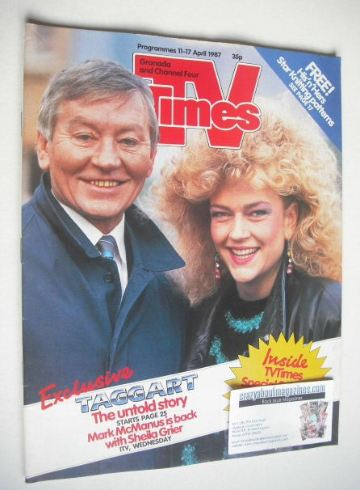 <!--1987-04-11-->TV Times magazine - Taggart cover (11-17 April 1987)