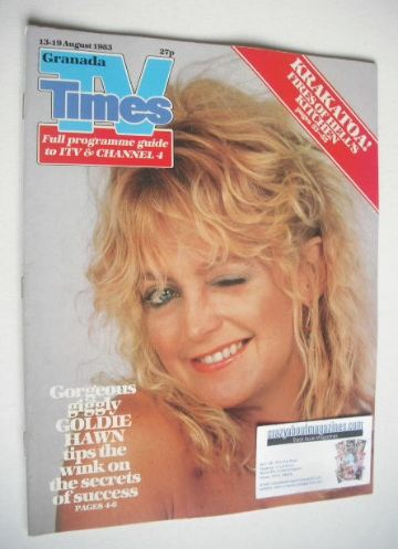 <!--1983-08-13-->TV Times magazine - Goldie Hawn cover (13-19 August 1983)