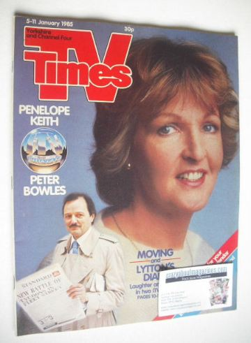 <!--1985-01-05-->TV Times magazine - Penelope Keith cover (5-11 January 198