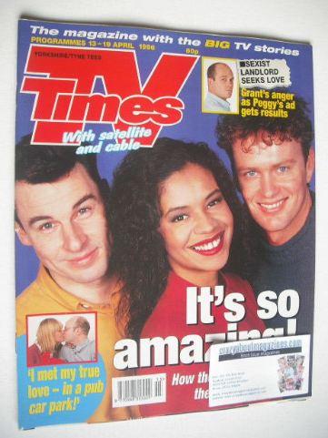 <!--1996-04-13-->TV Times magazine - Jesse Birdsall, Jaye Griffiths and Cra