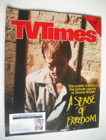 <!--1981-02-14-->TV Times magazine - A Sense Of Freedom cover (14-20 Februa