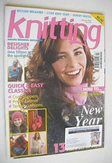 <!--2007-01-->Knitting magazine (January 2007 - Issue 33)