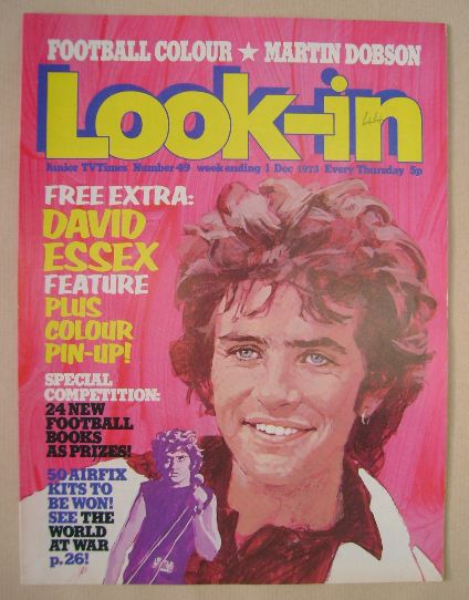 <!--1973-12-01-->Look In magazine - David Essex cover (1 December 1973)