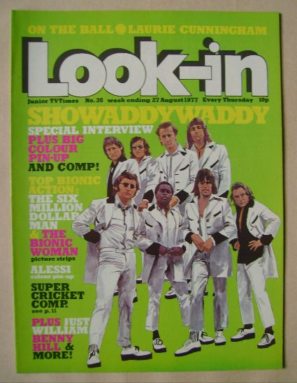 <!--1977-08-27-->Look In magazine - Showaddywaddy cover (27 August 1977)