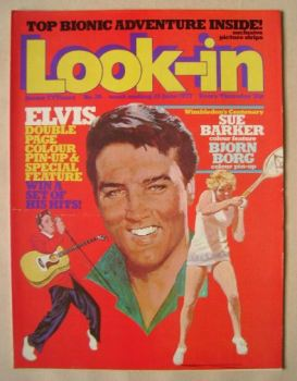 Look In magazine - Elvis Presley cover (25 June 1977)