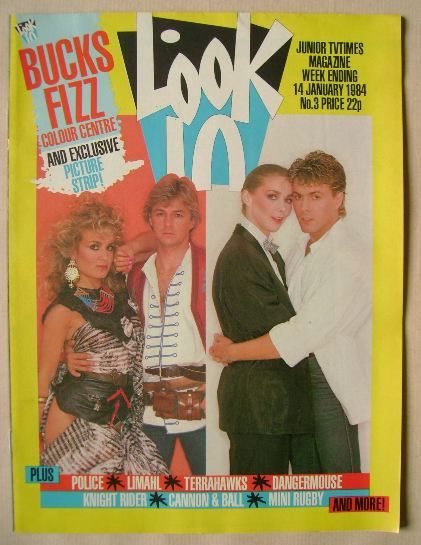 <!--1984-01-14-->Look In magazine - Bucks Fizz cover (14 January 1984)
