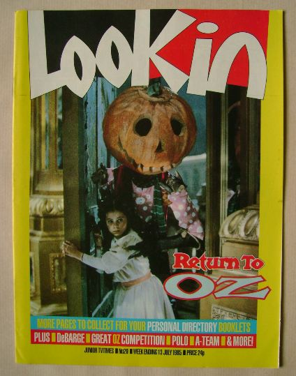<!--1985-07-13-->Look In magazine - Return to Oz cover (13 July 1985)