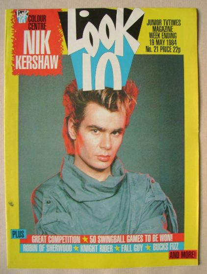 <!--1984-05-19-->Look In magazine - Nik Kershaw cover (19 May 1984)