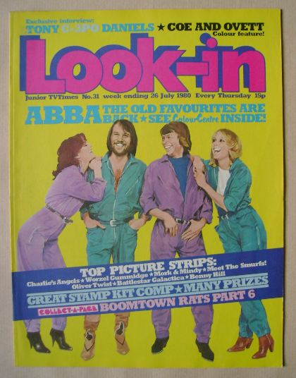 <!--1980-07-26-->Look In magazine - ABBA cover (26 July 1980)