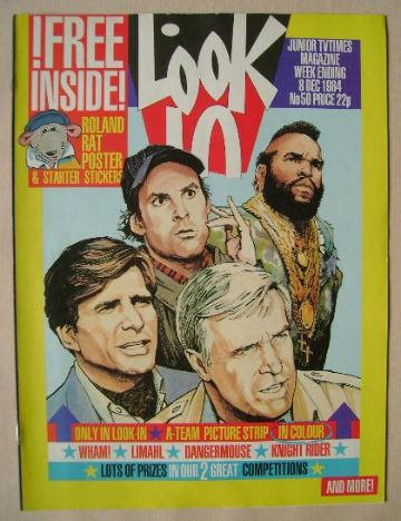 <!--1984-12-08-->Look In magazine - The A-Team cover (8 December 1984)