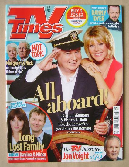 <!--2014-07-12-->TV Times magazine - Eamonn Holmes and Ruth Langsford cover
