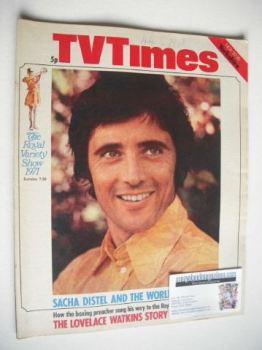 TV Times magazine - Sacha Distel cover (20-26 November 1971)