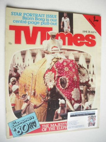 <!--1980-06-28-->TV Times magazine - Elephant cover (28 June - 4 July 1980)